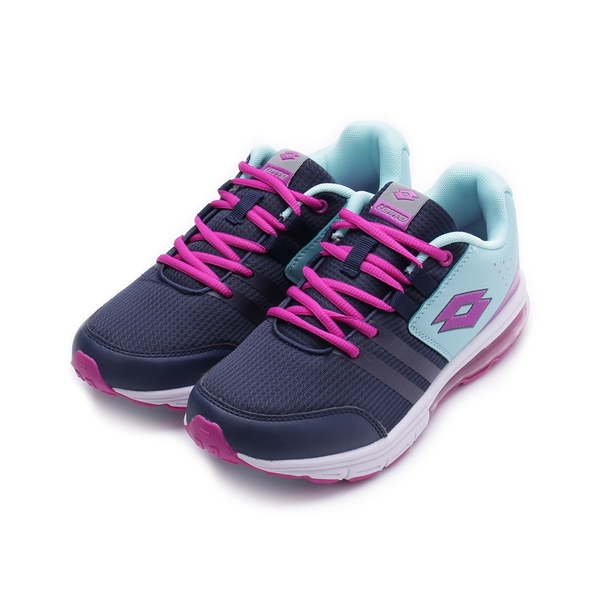 LOTTO SWIFT RUN 綁帶氣墊跑鞋 藏紫 LT9AKR0017 大童鞋 鞋全家福