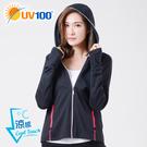 UV100 防曬 抗UV-涼感經典連帽口罩外套-女