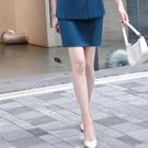 孔雀藍襯膚色穿搭窄裙[20X301-PF]美之札