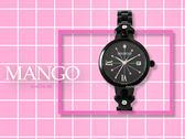 【時間道】MANGO時尚俏麗仕女腕錶 /黑面星星黑鋼帶(MA6728L-BK)免運費