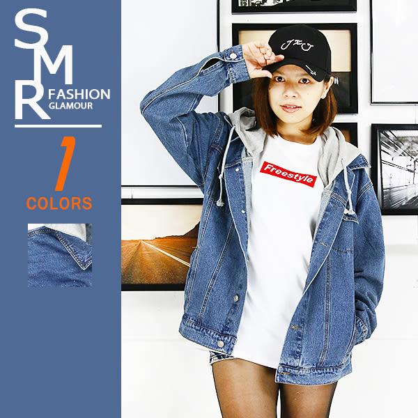 外套-嘻哈棉帽牛仔外套-情侶必備款《99977101》藍色【現貨+預購】『SMR』