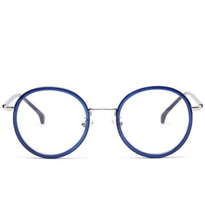 鏡架(圓框)-復古潮流時尚精選男女平光眼鏡6色73oe35[巴黎精品]