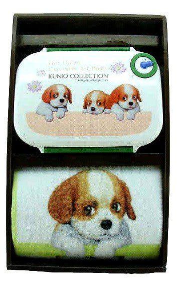 【波克貓哈日網】節慶禮盒  ◇小狗長巾+便當◇《限量販售》日本製造,品質保證