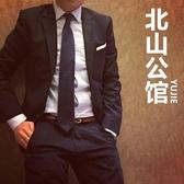 正裝懶人拉鏈領帶男黑色韓版結婚新郎窄易拉得免打結拉鏈式男士潮