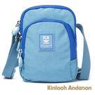 金安德森 極簡耀色 防潑水多功能夾層小款側背包 藍色