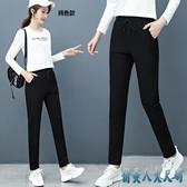 休閒褲女棉質長褲2020春天新款韓版大碼寬鬆小腳哈倫褲直筒運動褲 EY11420『俏美人大尺碼』