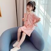 女童洋裝連身裙 夏裝洋氣韓版中大兒童裙子女孩網紅短袖公主裙