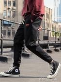 冬季加絨工裝褲子男士秋裝寬鬆束腳哈倫褲ins休閒褲 【快速出貨】