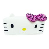 【享夢城堡】HELLO KITTY 豹紋系列-車用面紙盒套