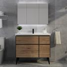 北歐智慧浴室櫃 衛生間洗漱台 洗手盆櫃 洗臉盆櫃 組合落地式現代簡約 快速出貨