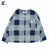 【秋冬降價款】American Bluedeer - 格紋圓領釦衣 秋冬新款