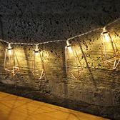 玫瑰金鉆石水滴LED電池彩燈閃燈串燈串少女心戶外陽臺房間裝飾燈wy【店慶滿月好康八折】