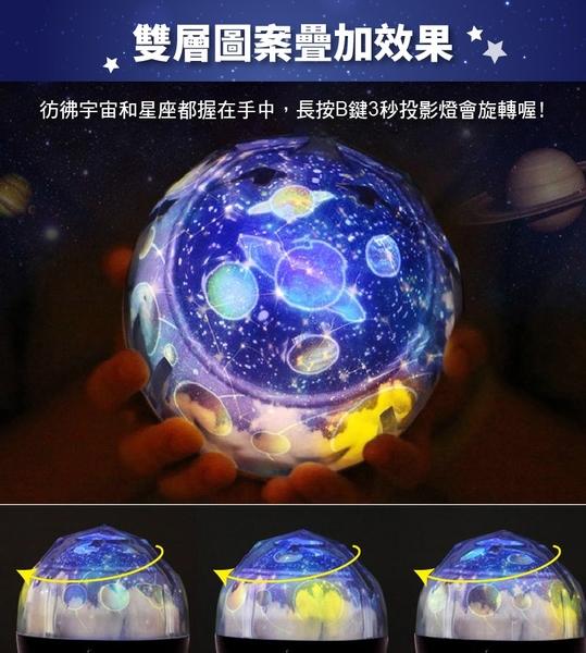 《送五種幻燈片!浪漫星空》星空投影小夜燈 LED星空燈 USB星球小夜燈 星空投影燈