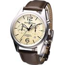 Bell & Ross 復刻版計時飛行機械錶-(BRV-126-BE-ST-SWA)米黃色