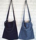 牛仔女包購物袋斜背包帆布書包ulzzang復古郵差側背包媽媽包 黛尼時尚精品