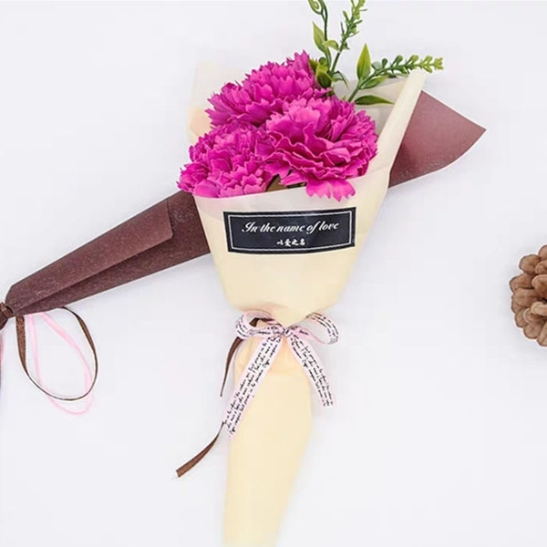 花束 母親節香皂玫瑰花單支康乃馨仿真肥皂批發送媽媽禮物小禮品