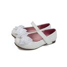 小女生鞋 娃娃鞋 蝴蝶結 閃粉 白色 童鞋 no207