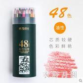 彩色鉛筆48色繪畫彩鉛兒童美術筆初學素描筆水溶性 JH2226【衣好月圓】
