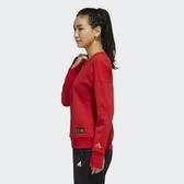 【雙12折後$1880】ADIDAS CNY SWEAT 大學T 紅色 小標 三條線 新年 衛衣 運動休閒 女款 FM9272