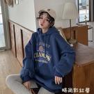 衛衣女2020秋冬季ins韓版寬鬆原宿bf風加絨加厚連帽外套「時尚彩紅屋」
