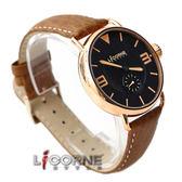 力抗LICORNE原廠公司貨 獨特玫瑰金錶殼 極簡刻度手錶真皮錶帶 柒彩年代【NE835】LI028BRBO