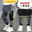 男童加絨加厚休閒褲2021新款中大童冬季保暖棉褲兒童夾棉運動長褲 3C數位百貨