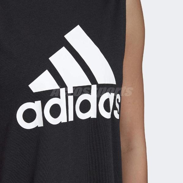 adidas 背心 MH BOS Tank 黑 白 女款 運動 訓練 寬肩 健身房 【ACS】 DU0003