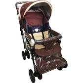【奇買親子購物網】IAN BABY 9998(889)豪華加寬超大型 嬰兒手推車/鋁合金/台灣製(橘色/咖啡色)