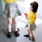 童裝女童格子裙寶寶春秋半身裙2018新款裙子小女孩短裙公主裙韓版     俏女孩