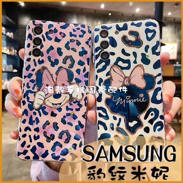 時尚蝴蝶結豹紋|三星Note 20 Ultra S10 S10+ Note20 5G 可愛俏皮卡通殼 藍光手機殼 掛繩孔 軟殼