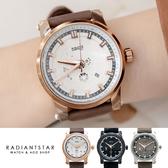OUBAOER世界旅行者日期顯示真皮手錶【WOB14539】璀璨之星☆
