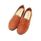 【南紡購物中心】WALKING ZONE (女)圓頭星點樂福鞋 懶人鞋 女鞋 -棕(另有灰)