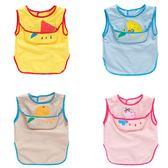 兒童無袖防水罩衣寶寶吃飯衣夏季反穿衣帶兜圍兜圍衣畫畫1-3-5歲