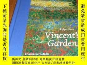 二手書博民逛書店2手英文罕見Vincent s Gardens: Paintin
