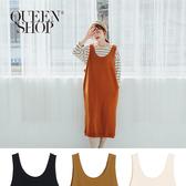 Queen Shop【01084902】素面無袖衛衣背心長洋裝 三色售*現+預*
