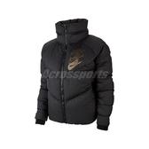 Nike 外套 NSW Down Fill Shine Jacket 黑 金 女款 羽絨外套 保暖 【PUMP306】 CK3964-010