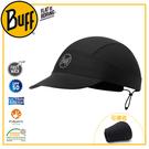 【BUFF 西班牙 可捲收跑帽 極簡黑】113702/極速排汗/抑臭/慢跑帽/運動帽/防曬
