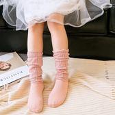 薄款公主堆堆襪子 女童韓國夏季純棉中筒女孩春夏潮妞防蚊襪兒童  易貨居