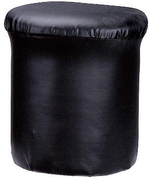 HY-608-11   香菇圓椅(高/黑皮)
