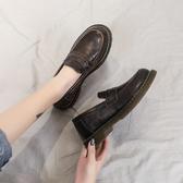 牛津鞋小皮鞋女英倫百搭平底休閒復古圓頭女鞋新款秋季學生黑色單鞋 聖誕節