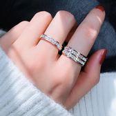食指鈦鋼戒指女不掉色日韓版玫瑰金潮 LQ3471『夢幻家居』