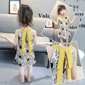 女童洋裝夏季背心裙2020新款3歲女寶連身裙5小童公主裙嬰幼兒夏季衣服 LR23909『毛菇小象』
