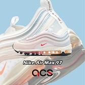 Nike 休閒鞋 Wmns Air Max 97 米白 粉 橘 藍 彩色漸層 女鞋 氣墊 【ACS】 DD8500-161