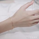 手鍊女日式輕奢手鍊小眾設計百搭女潮純銀簡約森繫閨蜜韓版學生 麥吉良品