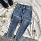 窄管褲 牛仔褲女夏季薄款九分褲高腰修身顯瘦八分褲緊身小腳褲-Ballet朵朵