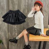 女童半身裙秋冬2018新款洋氣韓版PU皮短裙春秋款中大兒童皮裙子潮