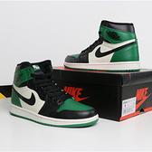 【12周年慶跨店現貨折後$12800】NIKE Air Jordan 1 Retro High OG Pine Green 綠黑 皮革 喬丹 男 籃球 555088-302