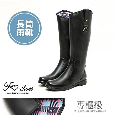 靴.專櫃級斜口長筒雨靴(限宅配)-FM時尚美鞋-JJ.Wander