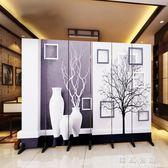 新歐式屏風隔斷墻客廳臥室現代簡約時尚折屏移動折疊雙面辦公室igo  韓風物語