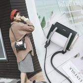 包包女2018新款潮韓版百搭撞色迷你小方包單肩斜跨包簡約個性時尚  良品鋪子